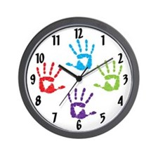 Hand Prints Wall Clock