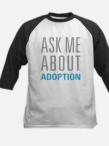 Ask Me About Adoption Baseball Jersey