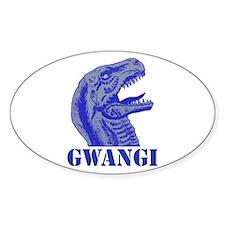 Blue Gwangi Oval Decal