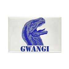 Blue Gwangi Rectangle Magnet