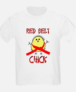 Red Belt Chick T-Shirt