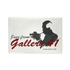 Jazz from Gallery 41 Logo Rectangle Magnet