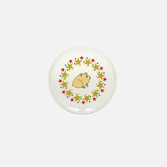 Hamster in Stars Mini Button (10 pack)