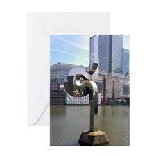 Unique Canary wharf Greeting Card