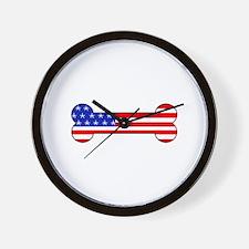 American Dog Bone Wall Clock