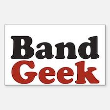 Band Geek Rectangle Decal