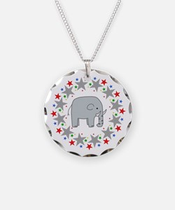 Elephant in Stars Necklace
