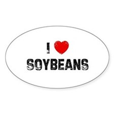 I * Soybeans Oval Decal