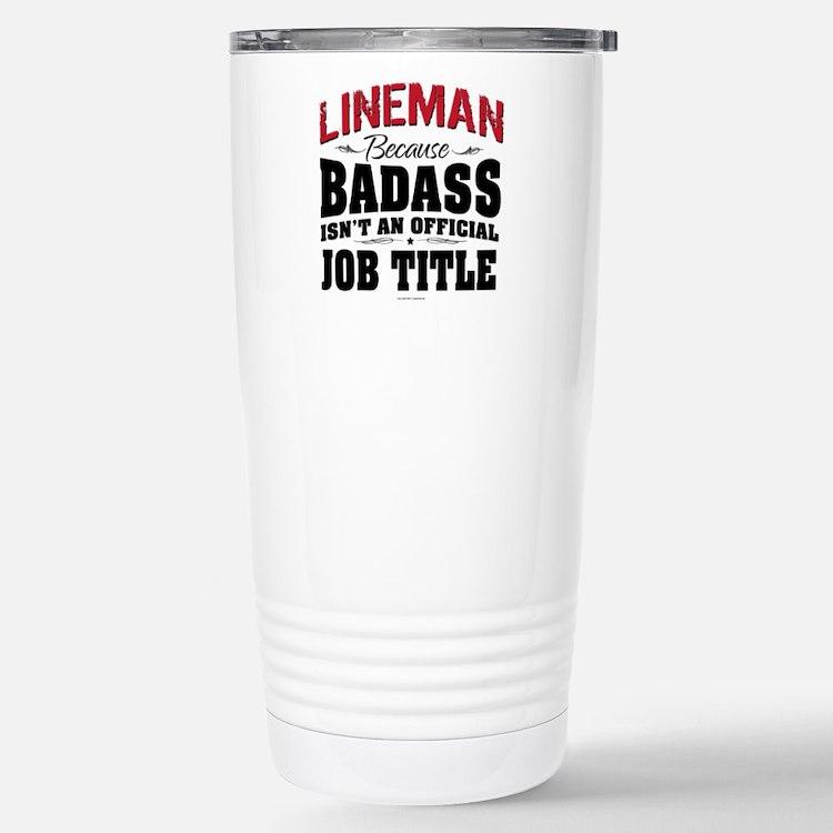 Badass Lineman Stainless Steel Travel Mug