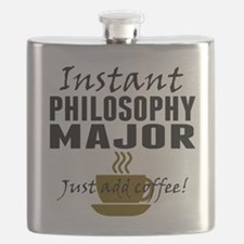 Instant Philosophy Major Just Add Coffee Flask