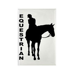 Equestrian One w/ Text Rectangle Magnet (10 pack)