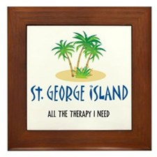 St. George Therapy - Framed Tile