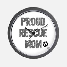 Proud Rescue Mom Wall Clock