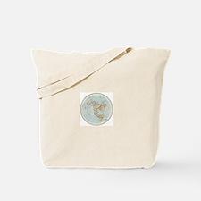 Flat Earth /Gleason's Map 1892 Tote Bag