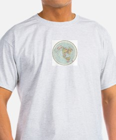 Flat Earth /Gleason's Map 1892 T-Shirt