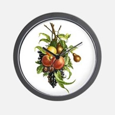 Peaches, Pears Grapes and Plums Wall Clock