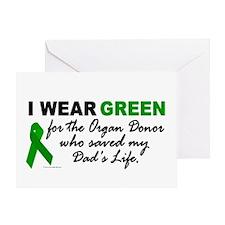 I Wear Green (Saved My Dad's Life) Greeting Card