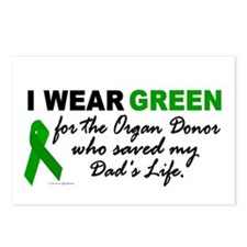 I Wear Green (Saved My Dad's Life) Postcards (Pack