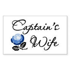 Captain's Wife Rectangle Decal