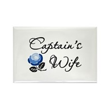 Captain's Wife Rectangle Magnet