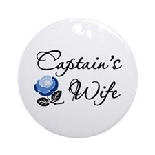 Captain's Wife Ornament (Round)