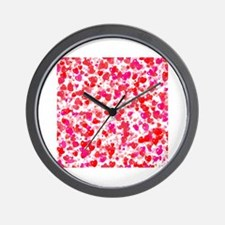 Cute Valentines penguin Wall Clock