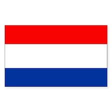 Dutch (Netherlands) Flag Rectangle Decal