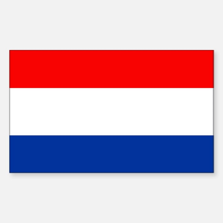 Dutch (Netherlands) Flag Rectangle Decal