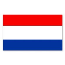 Dutch (Netherlands) Flag Rectangle Stickers