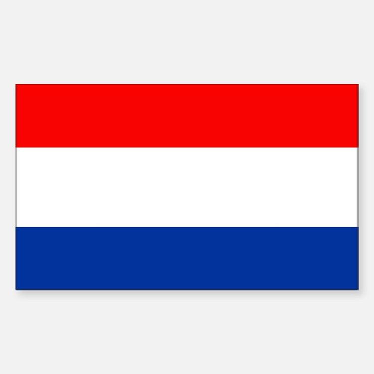 Dutch (Netherlands) Flag Rectangle Stickers