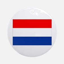 Dutch (Netherlands) Flag Ornament (Round)