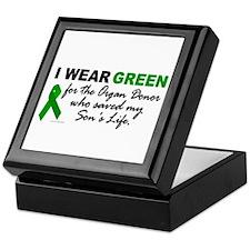 I Wear Green 2 (Saved My Son's Life) Keepsake Box