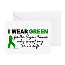 I Wear Green 2 (Saved My Son's Life) Greeting Card