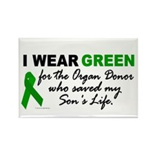 I Wear Green 2 (Saved My Son's Life) Rectangle Mag