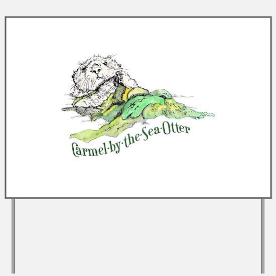 Carmel Sea Otter Yard Sign