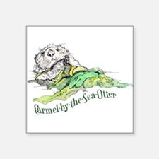 "Carmel Sea Otter Square Sticker 3"" x 3"""