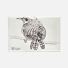 Little Brown Wren Rectangle Magnet (100 pack)