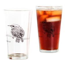 Little Brown Wren Drinking Glass