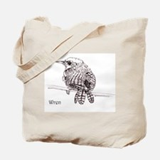 Little Brown Wren Tote Bag