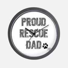 Proud Rescue Dad Wall Clock