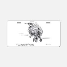 Feathered Friend Wren Aluminum License Plate