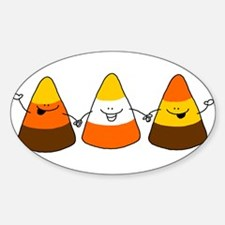 Candy Corn Oval Decal