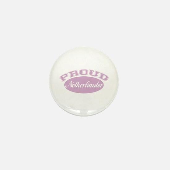 Proud Netherlander (pink) Mini Button