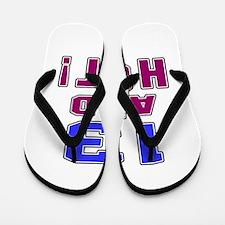 13 and hot birthday Flip Flops