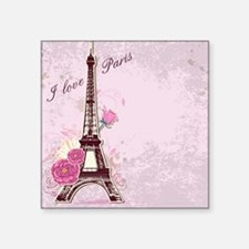 "I Love Paris Square Sticker 3"" x 3"""