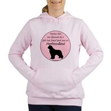 Cute Newfie Women's Hooded Sweatshirt