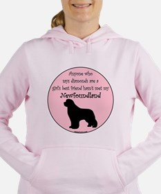 Funny Girly Women's Hooded Sweatshirt