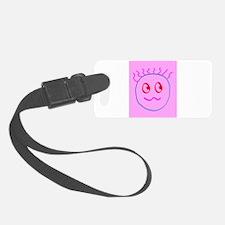 Pink Blue Goofball Gee Kyra's fa Luggage Tag