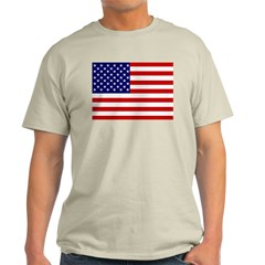 American Flag Ash Grey T-Shirt