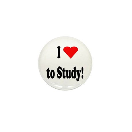 I Heart (Love) to Study Mini Button (100 pack)